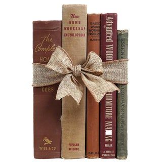 "Vintage Book Gift Set: ""How To"" Selections - Set of 5"