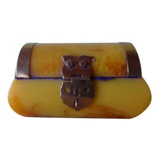 Bakelite Lucite Mini Treasure Chest Trinket Box
