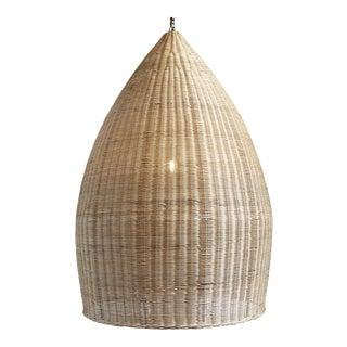 Raw Rattan Pod Lantern
