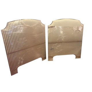 Upholstered Twin Headboards - Pair