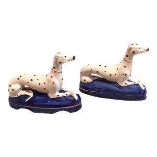 Vintage Porcelain Dogs - A Pair