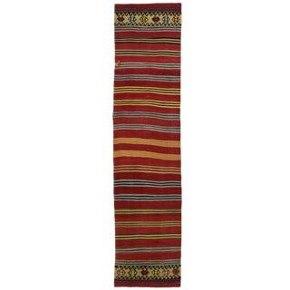 Vintage Konya Turkish Kilim Runner | 2'8 x 12'10 Flatweave