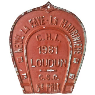 Vintage French 1981 Award Plaque