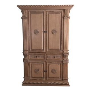 Wooden TV Armoire