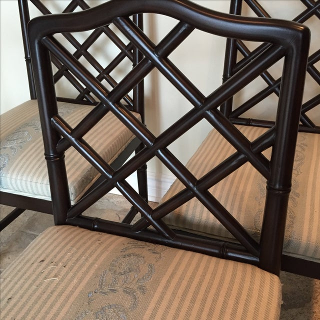 Solid Wood Chippendale Dining Chairs - Set of 4 - Image 5 of 6