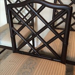 Image of Solid Wood Chippendale Dining Chairs - Set of 4