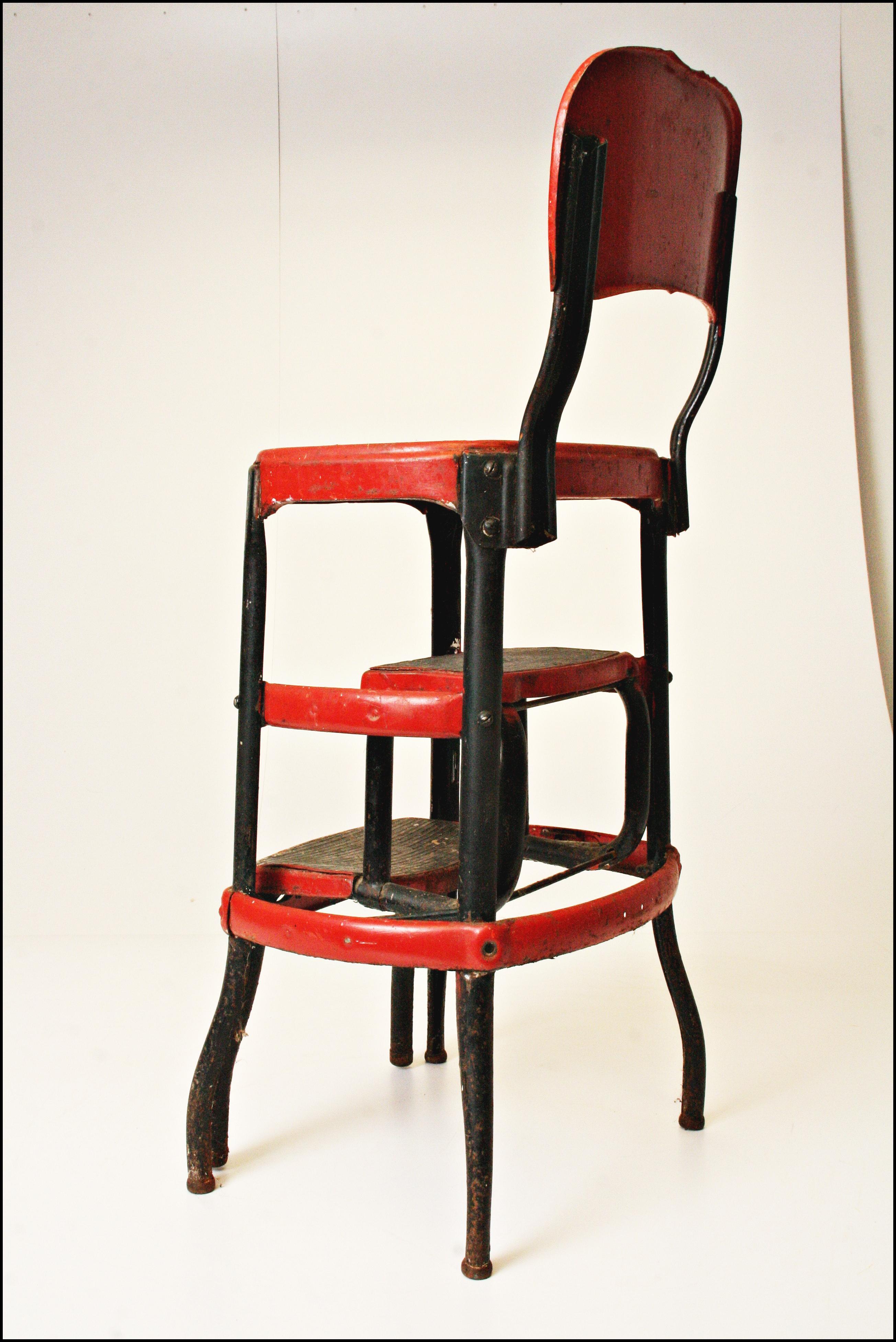 Mid Century Metal Step Stool Chairish