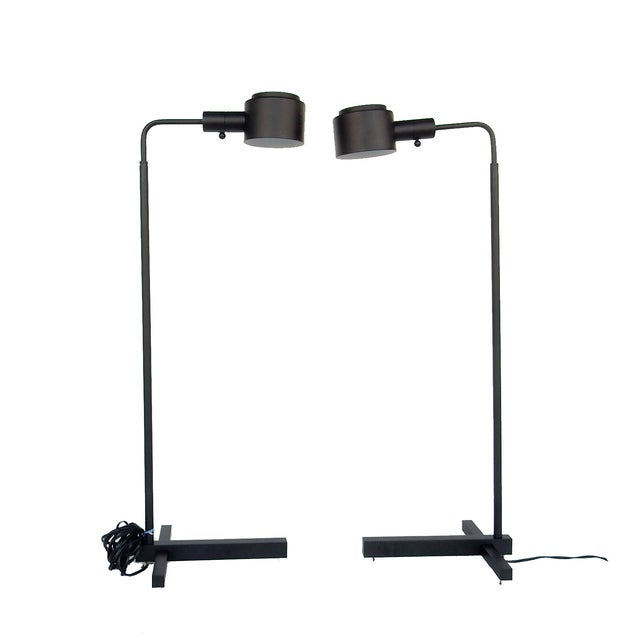 Original Casella Black Floor Lamps - Pair - Image 3 of 9