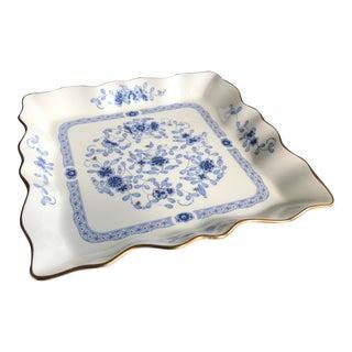 1950s Narumi Bone China Serving Platter, Plate, Decorative Bowl Made in Japan