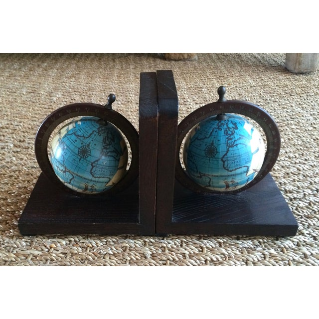Nautical Spinning Globe Ships Bookends - Pair - Image 3 of 6