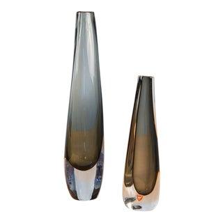 Orrefors Dusk Tall Vase by Nils Landberg