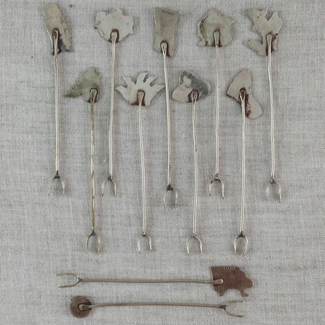 Vintage Alpaca Cocktail Forks - Set of 11 - Image 10 of 10