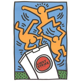 """Keith Haring """"Lucky Strike"""" Poster"""
