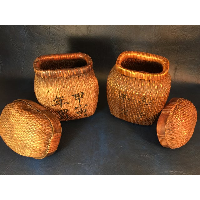 Japanese Covered Baskets - A Pair - Image 5 of 10