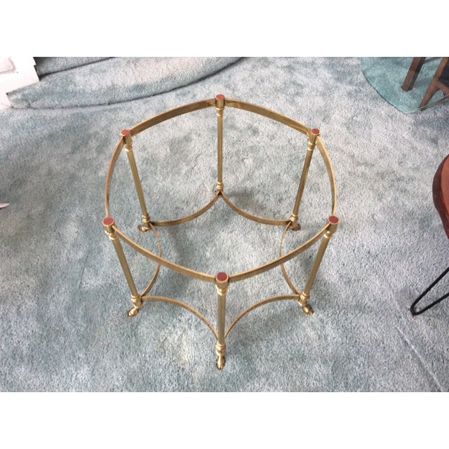 Vintage La Barge Octagonal Brass Side Table - Image 6 of 8