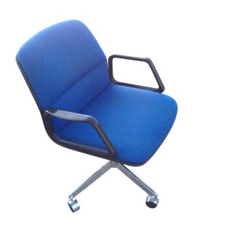 Royal Blue & Chrome Allsteel Office Chair