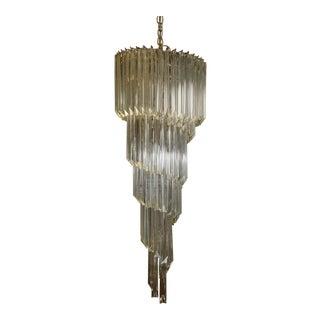 1960s Five-Tier Spiral Murano Glass Chandelier