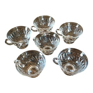 Vintage Glass Dessert Bowls - Set of 6