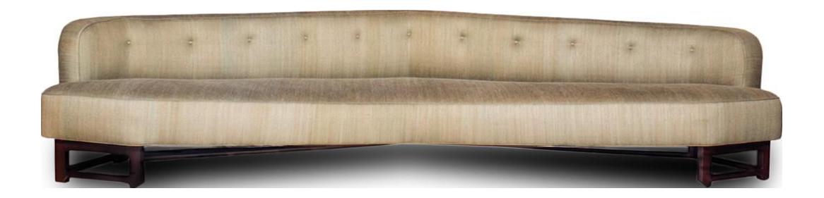 Edward Wormley For Dunbar Janus Collection Angular Sofa