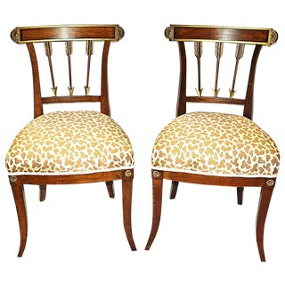 French Empire Beechwood Side Chairs - A Pair