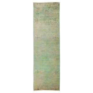 """Vibrance Over Dyed Hand Knotted Runner - 3'3"""" X 10'4"""""""