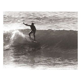 Black & White Vintage Surfer Photo I