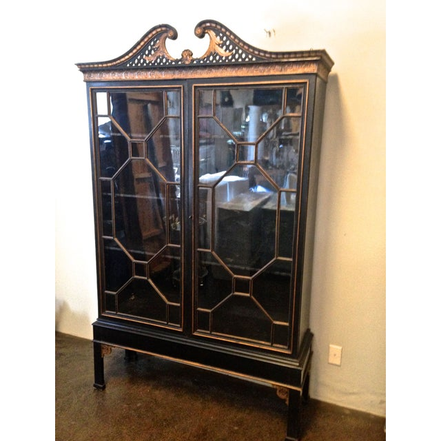 Antique Chinese Chippendale Cabinet - Image 2 of 8