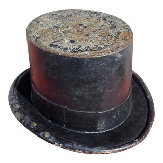 Early 20th Century Cast Iron Top Hat Spittoon Planter