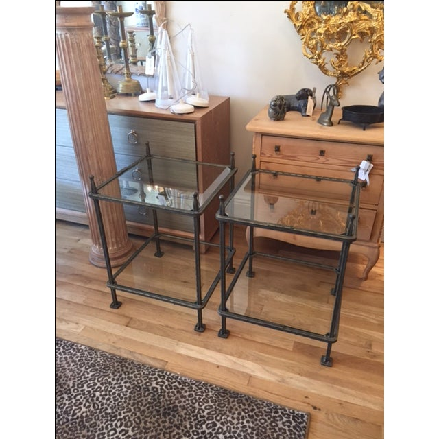 Claudio Rayes Bronze Side Tables - Pair - Image 2 of 8