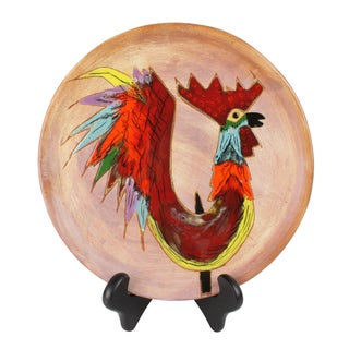Mid-Century Modern Rooster Plate
