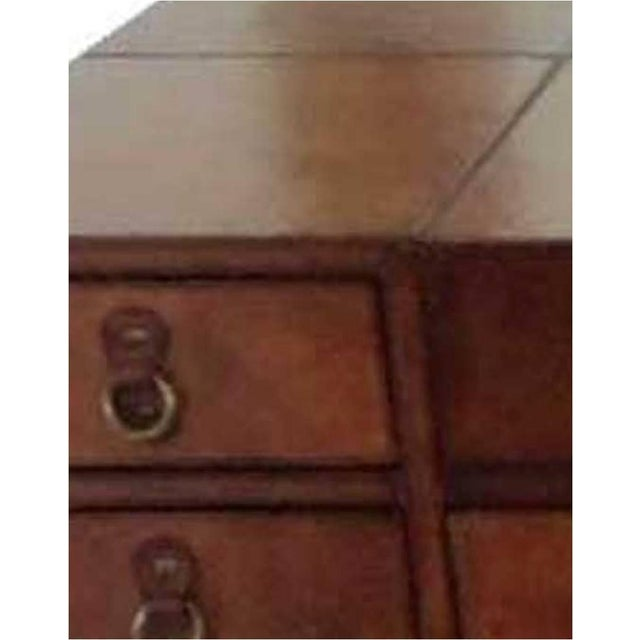 Leather Writing Desk With Drawers - Image 3 of 4