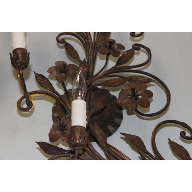 Image of Pair of 19th C. French Wrought Iron Sconces