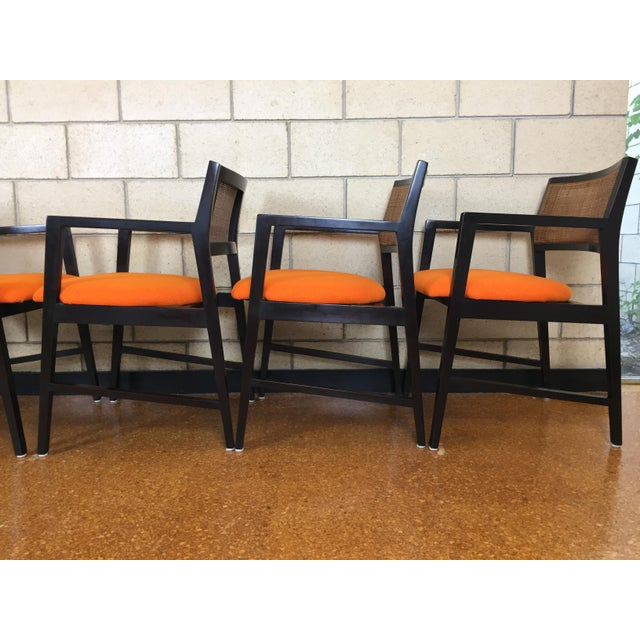 Edward Wormley for Dunbar Dining Arm Chairs - Set of 6 - Image 7 of 11