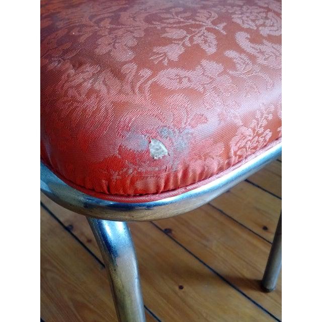 Retro 1950s Vinyl & Chrome Dining Chairs - Set of 4 - Image 8 of 10