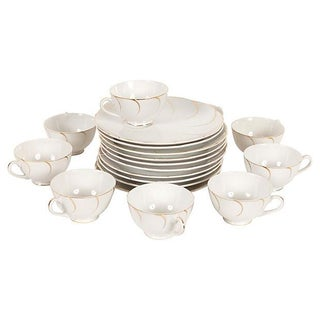 Dessert Plates & Cups Service for Eight