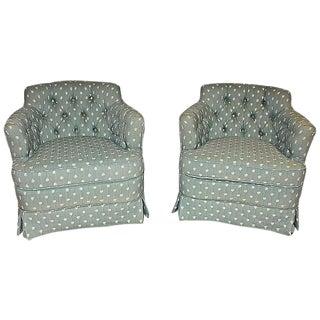 Tufted Club Chairs - A Pair