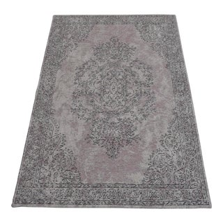 Vintage Inspired Overdyed Turkish Rug - 3′11″ X 5′11″