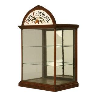 c.1890 Original English J.S. Fry & Sons, Ltd Chocolate Cabinet