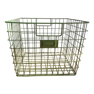 Green Metal Wire Basket