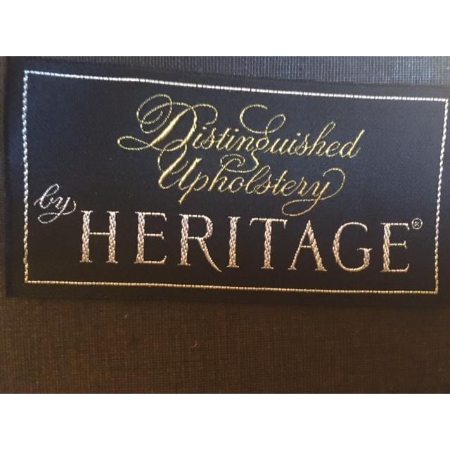 Vintage Mid Century Heritage Tufted Caramel Leather Club