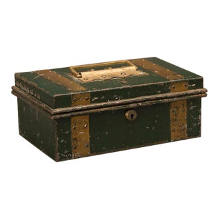 "Street Vendor's ""Cash"" Hinged Metal Box, Painted Finish, England c. 1890"
