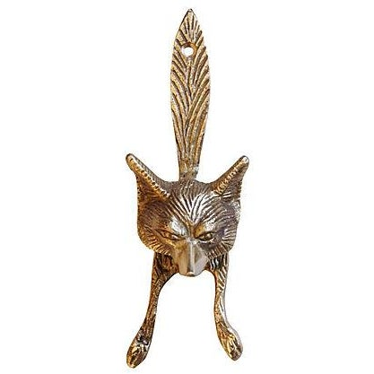 Image of Vintage English Brass Fox Door Knocker