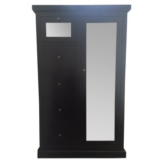 Crate and Barrel Mirrored Armoire