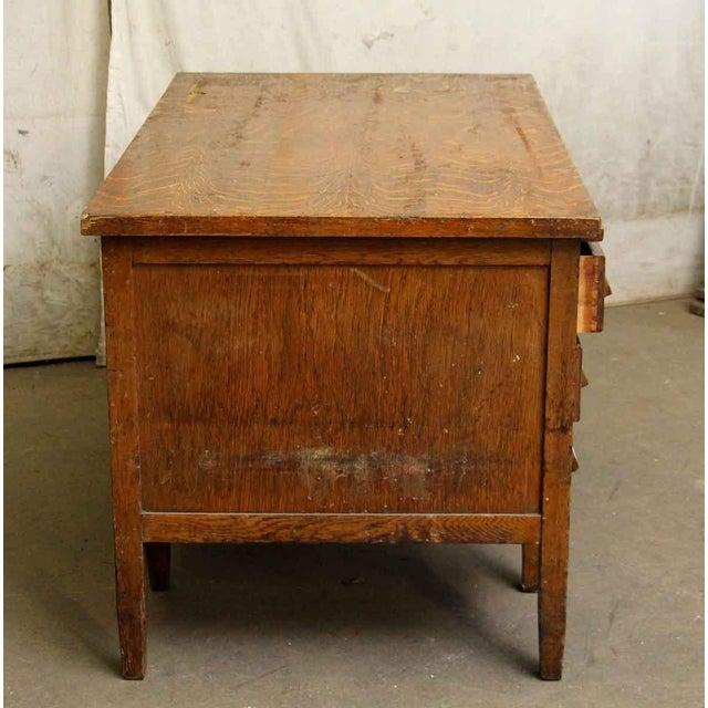Tiger Oak Solid Wood Teacher's Desk - Image 6 of 7 - Tiger Oak Solid Wood Teacher's Desk Chairish