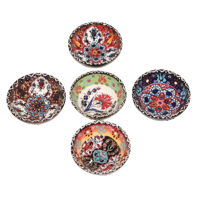 Turkish Tile Bowls - Set of 5 - Image 1 of 6