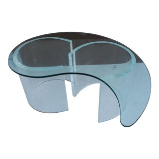 Sculptural Lucite Coffee Table