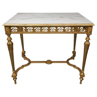 19th Century Louis XVI Style Giltwood Centre Table
