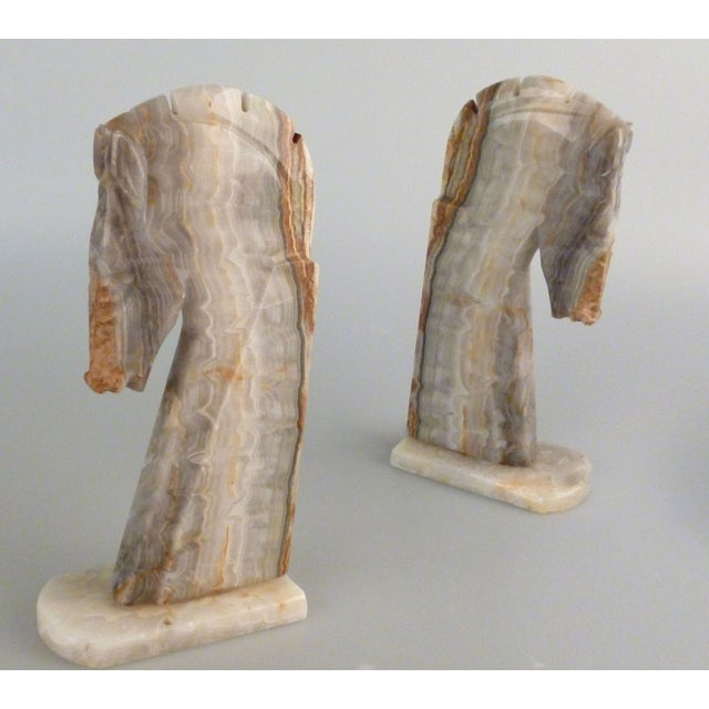 Handmade Onyx Horse Bookends - A Pair - Image 3 of 9