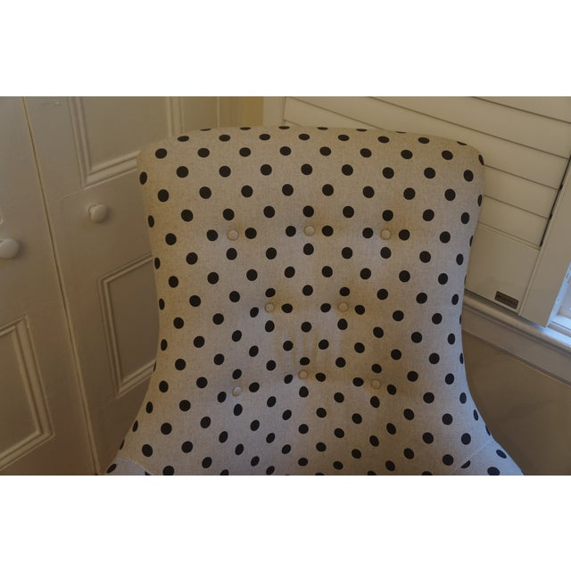 Anthropologie Brown Polkadot Astrid Chair - Image 7 of 11