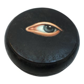 Geisha Face Powder Box with Painted Eye